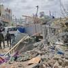 2 blasts, gunfire heard near Somalia's presidential palace